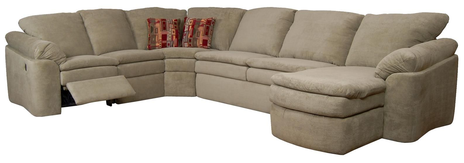 Seneca Falls Reclining Sectional By England Reclining Sectional