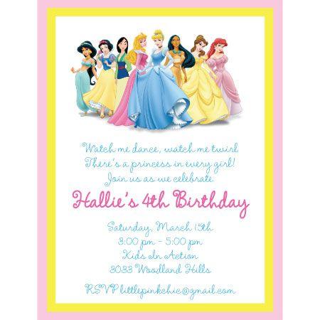 Disney princess birthday party invitation wording inviview princess party invitation wording disney birthday filmwisefo