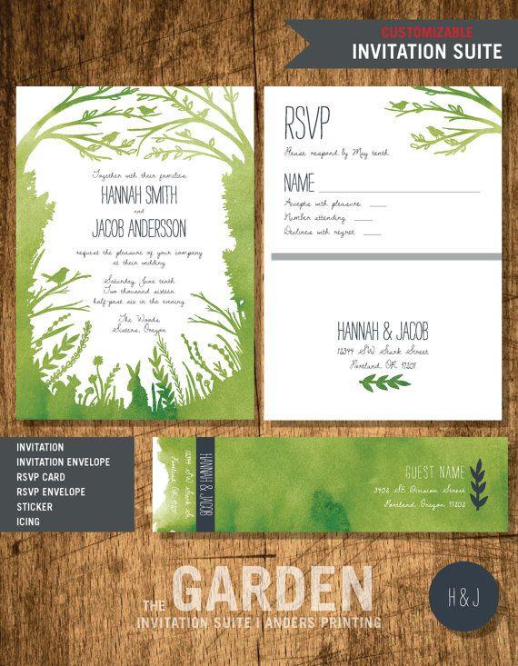 Garden Inspiration Line Wedding Invitation 5 By Andersprintingco Best Friend Wedding Garden Inspiration Friend Wedding
