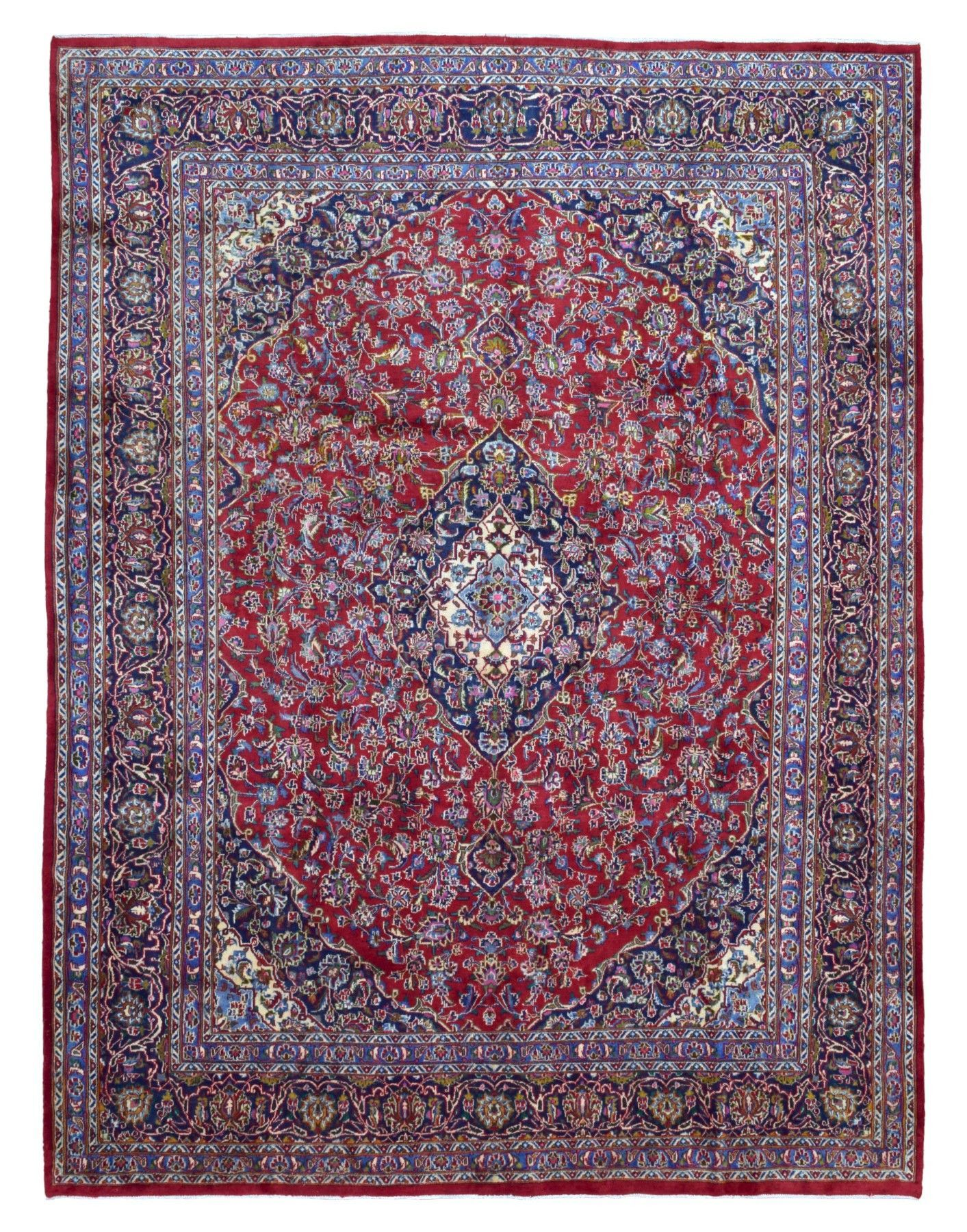 Semi Antique Persian Kashan Oriental Rug 9 4x12 2 Rugs Oriental Rug Rugs On Carpet