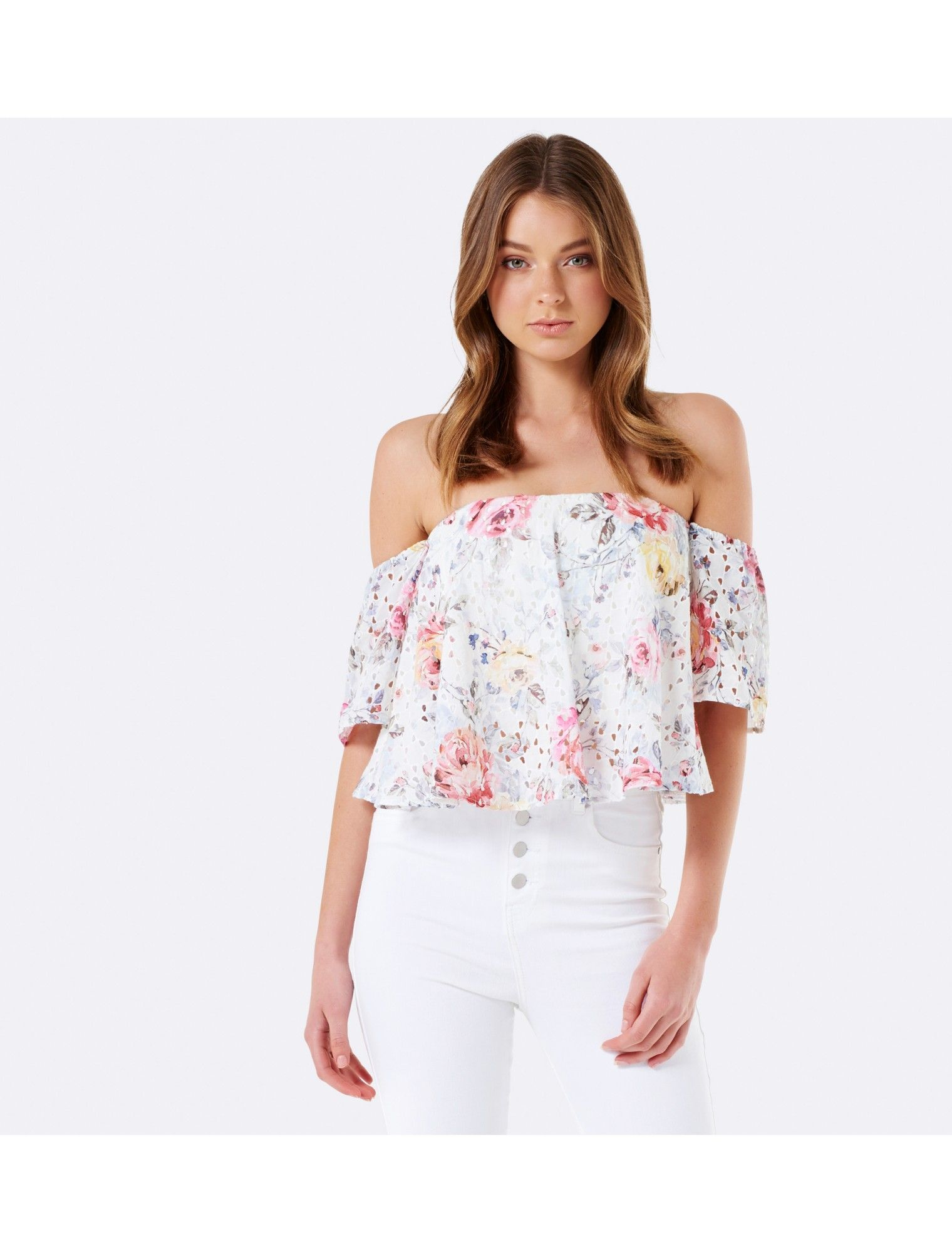 Discover a new wardrobe favourite and channel chic sophistication with our  Primrose Floral Off Shoulder Top f5643bb728