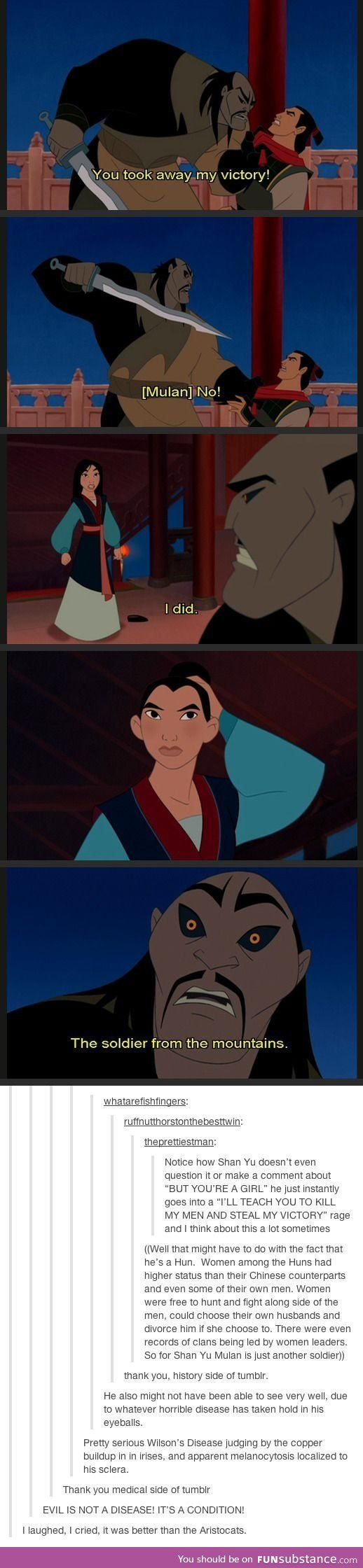 Make A Man Out Of You? No Need, Hun... -- tumblr and this comment on mulan
