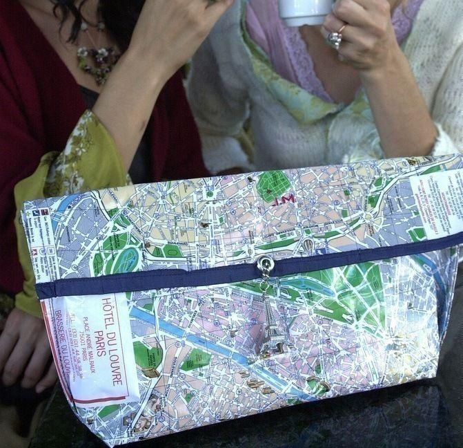 Paris Map Purse