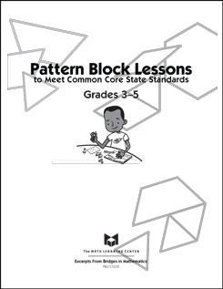 Here's a set of pattern block lessons and reproducibles to
