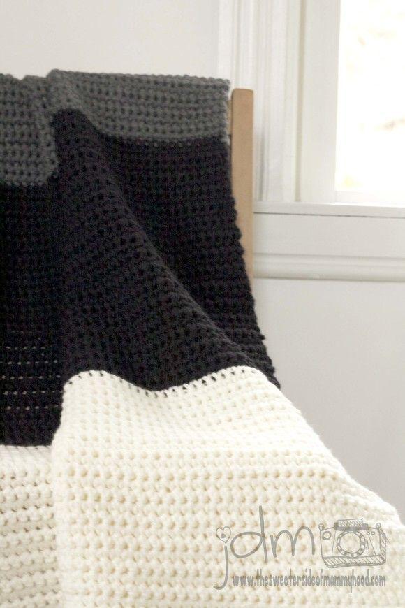 Chunky Crochet Blanket Tutorial Pattern Included Single Crochet