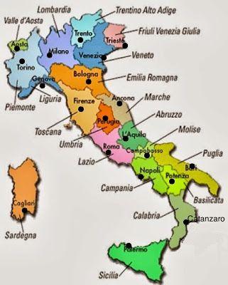 Italia Cartina Muta Regioni.Diario Di Scuola Regioni E Capoluoghi D Italia Mappa Dell Italia Foto Della Scuola Materiale Per Scuola Media