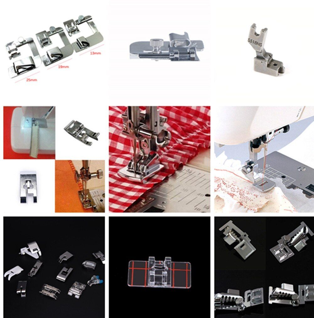 New Hot Domestic Sewing Machine Accessories Presser Foot Feet Kit Set Hem Foot Spare Parts For Brother Singer Janome 1PCS.