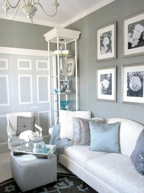 I've Got The Blues Over Gray  Room Colors Colour Gray And Gray Amazing Blue And Silver Living Room Designs Inspiration Design