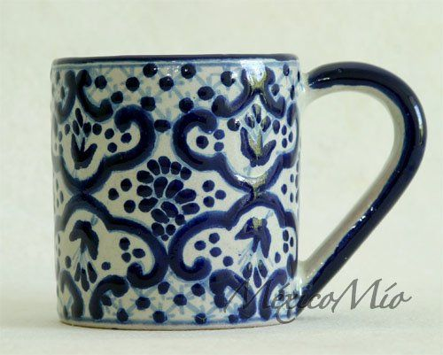 b5505233e3a talavera mug | Blue puebla, Blue willow etc. design | Mugs, Ceramic ...