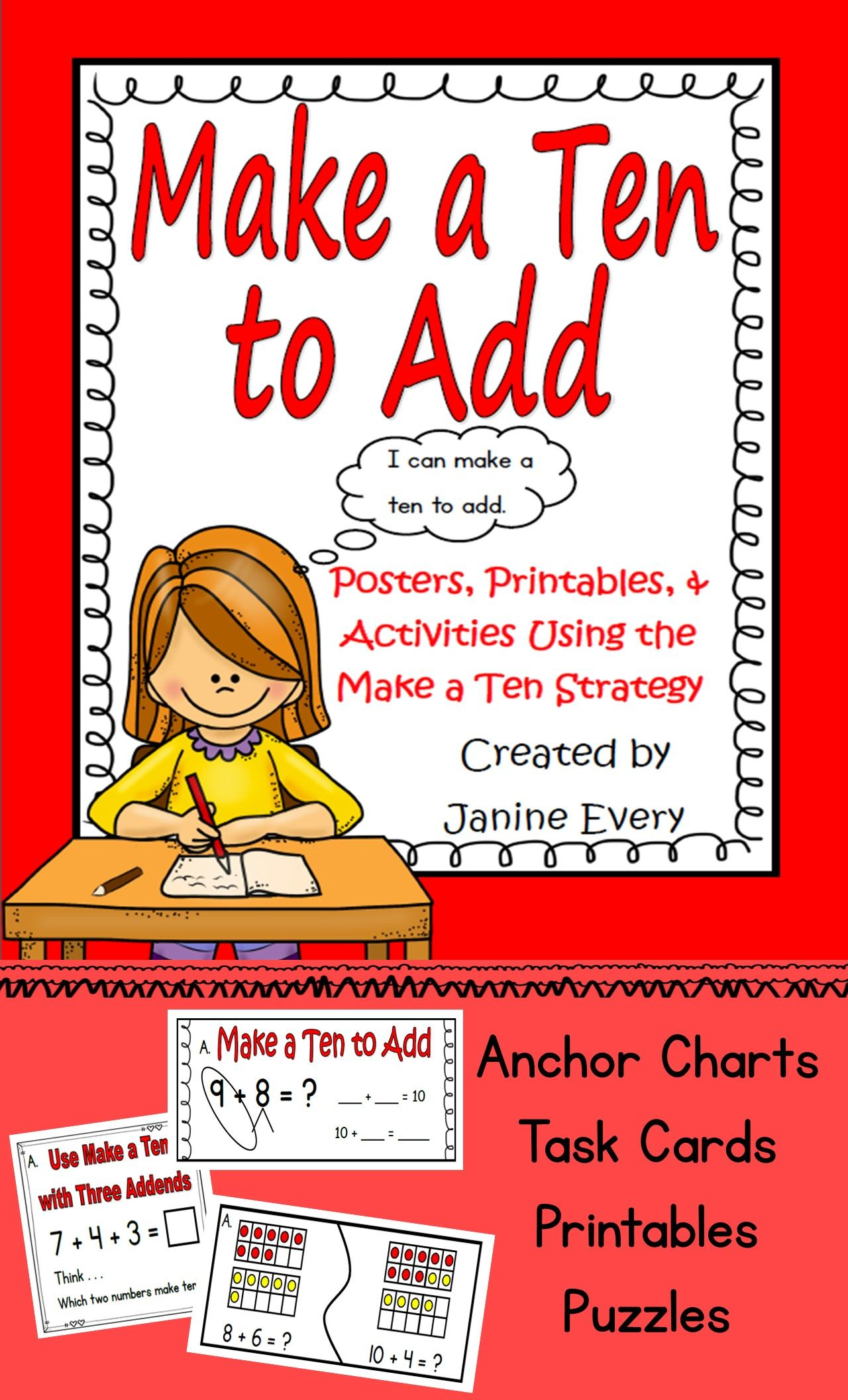 Make A Ten To Add Activities And Printables