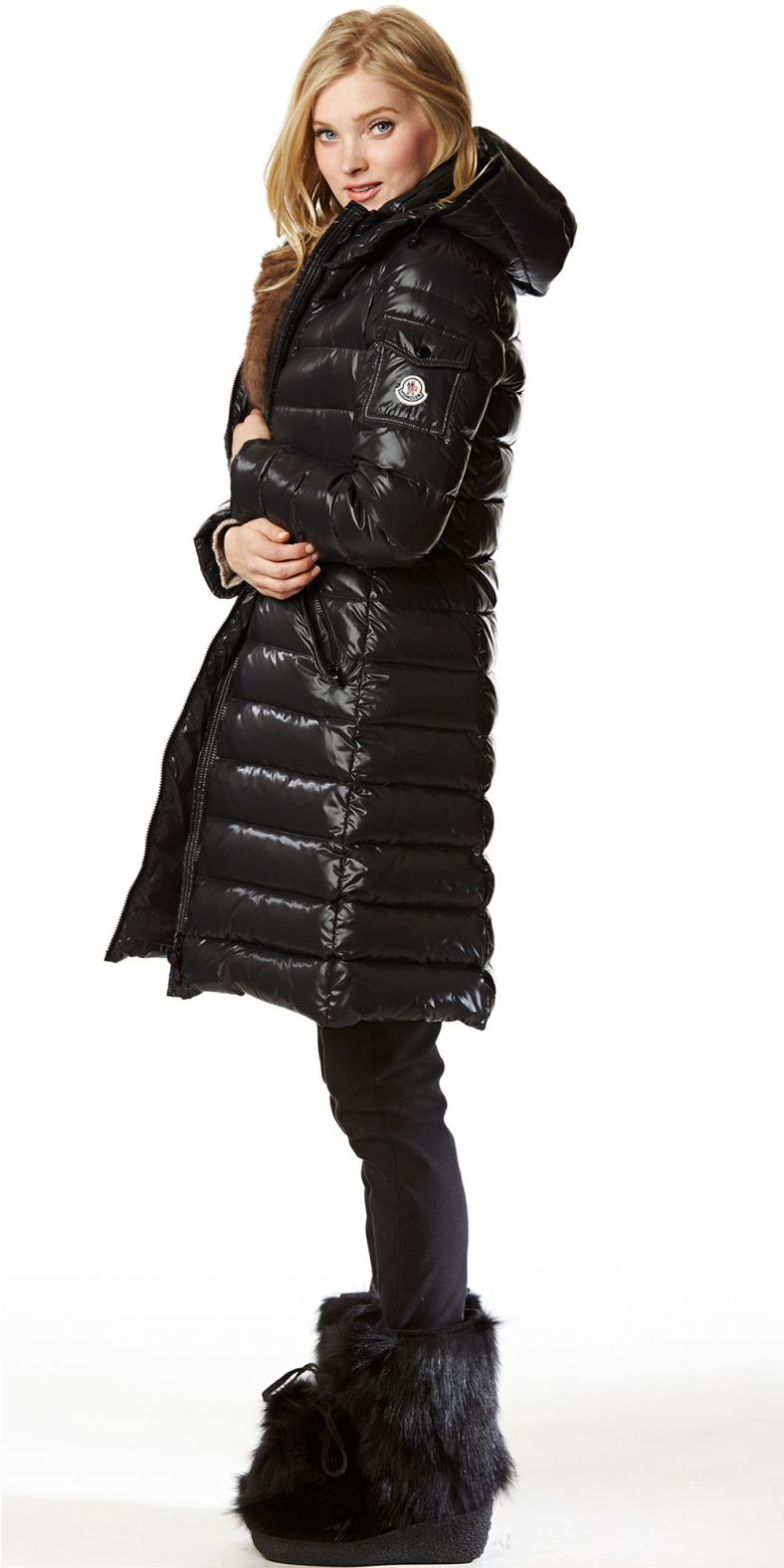 673ba1bc0 Black Moncler 'Moka' down coat | Aprês Ski | Moncler jacket women ...