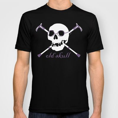 Old Skull T-shirt by Vivi Nicolin - $18.00 - Buy here: http://society6.com/vivinicolin/Old-Skull-QHB_T-shirt#11=49&4=136