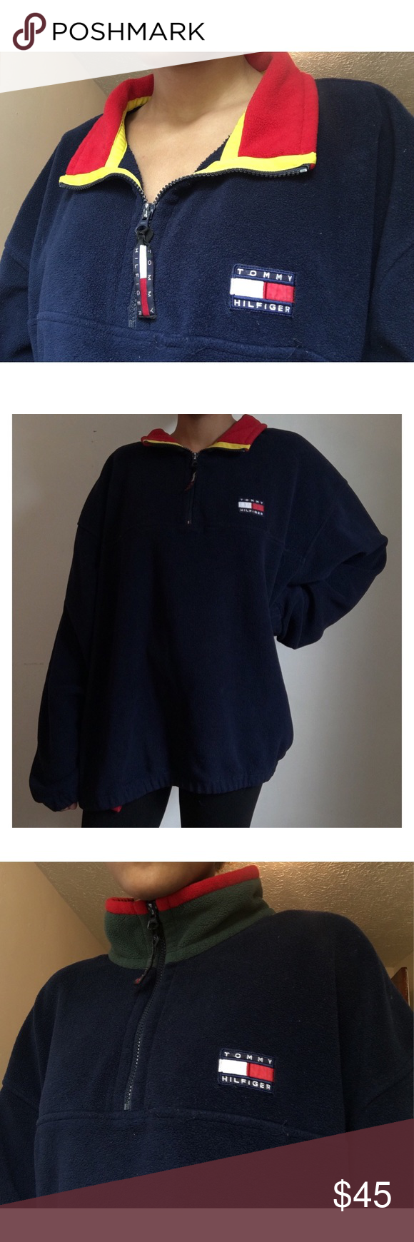 5cbd01bb6 Vintage Tommy Hilfiger Jacket/Sweater Very comfy, unnoticeable hold on from  line Tommy Hilfiger Jackets & Coats