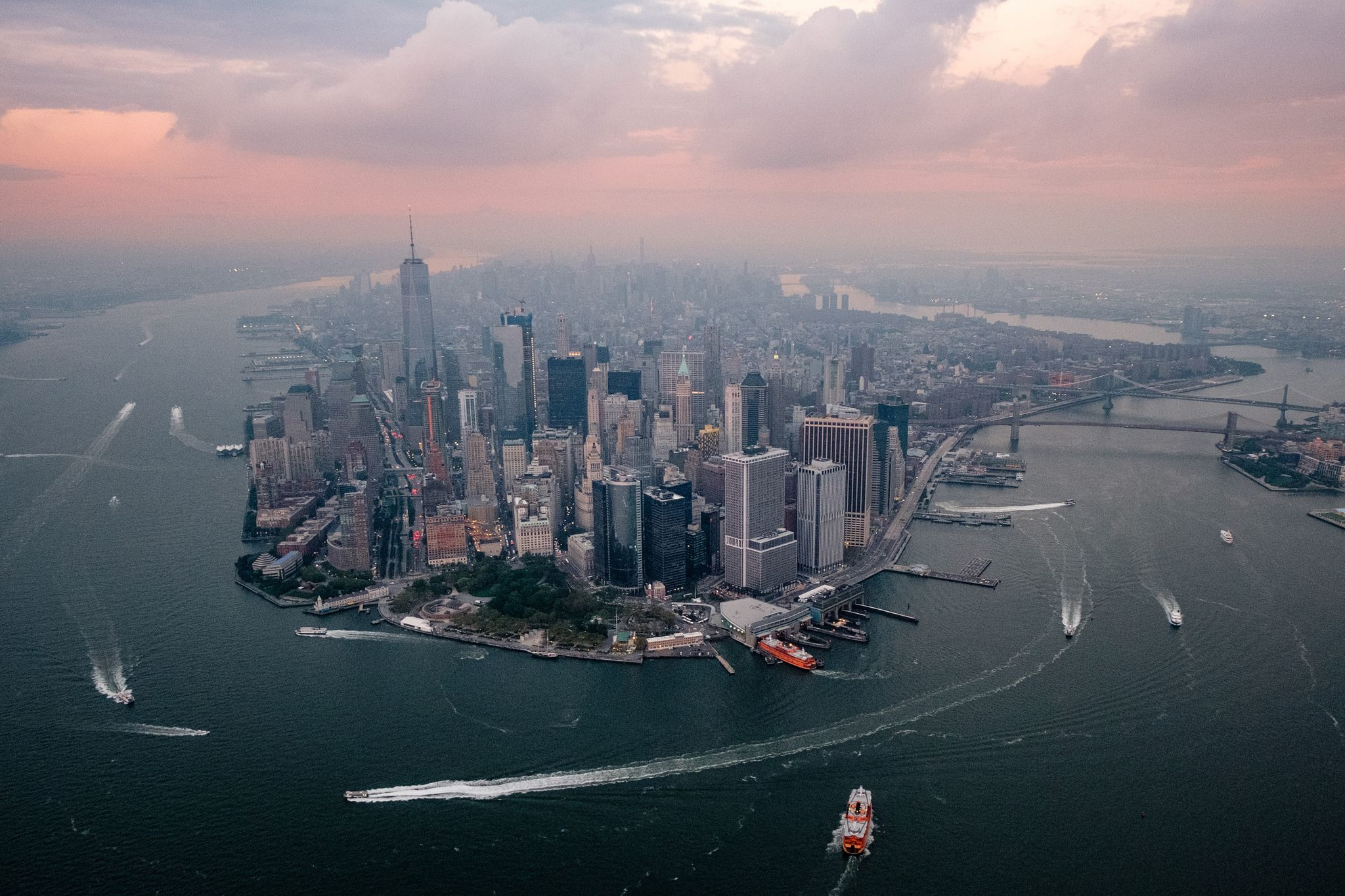 New York Usa Over New York 2048 X 1365 Wallpaper