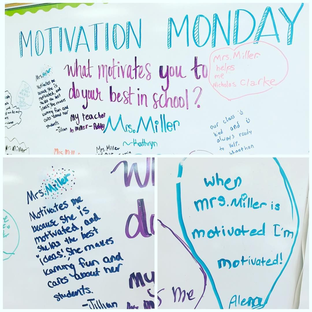 A Little Monday Motivation When My Students Say I M Their