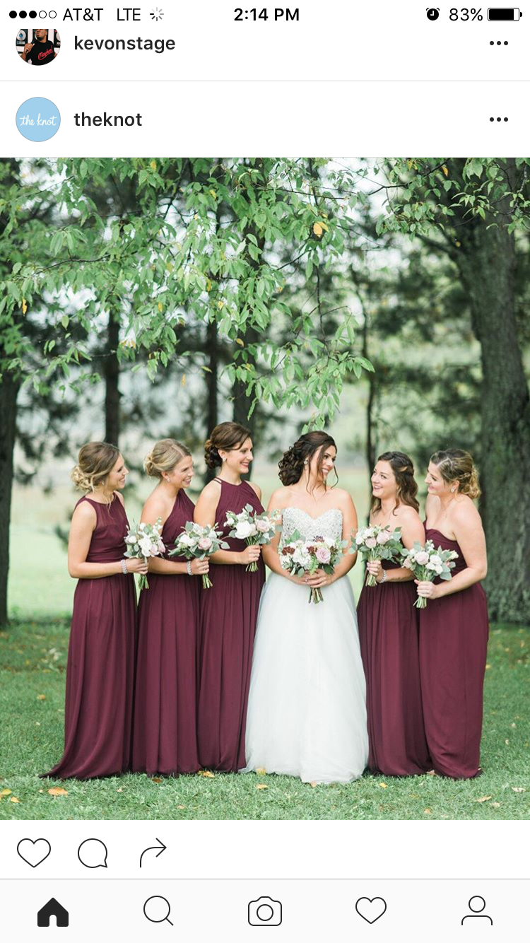 I like the color of the bridesmaidsu dresses us definitely not
