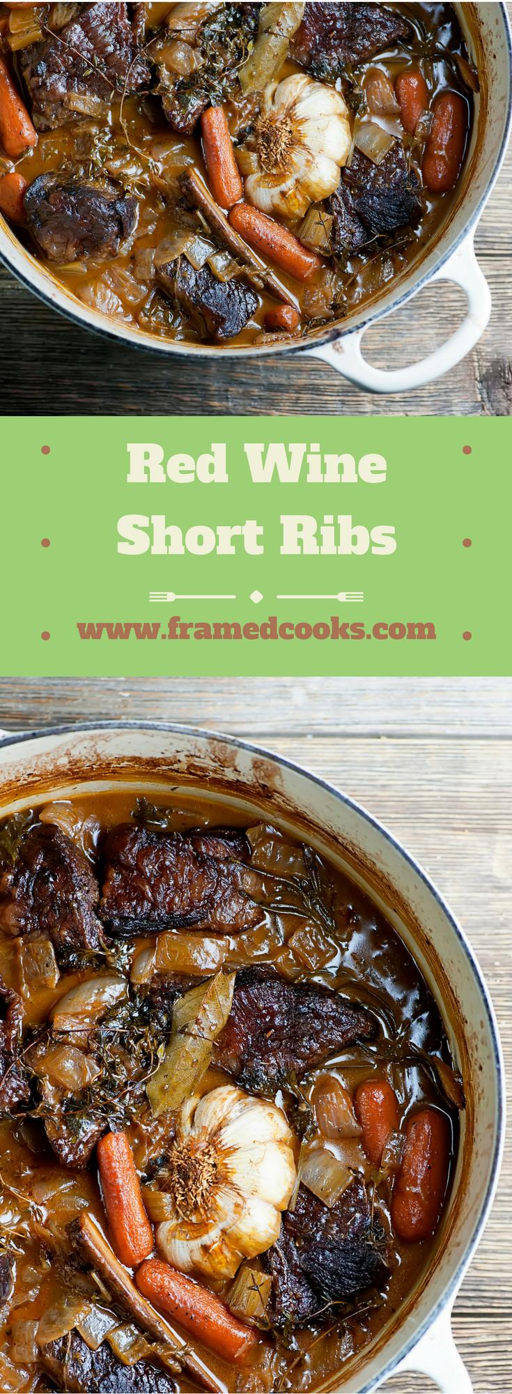 Red Wine Short Ribs #fallrecipesdinner