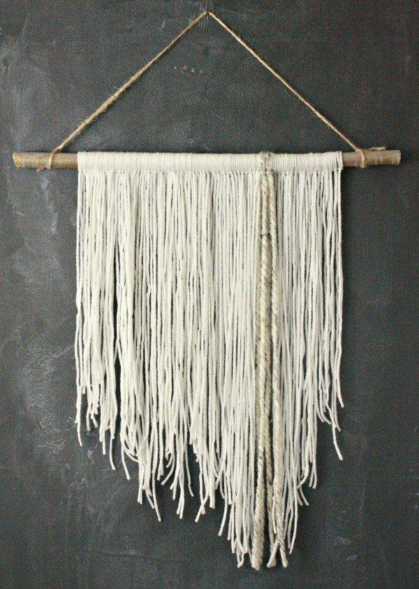 Diy Yarn Wall Hanging My Thoughts Yarn Wall Hanging Hanging Wall Decor Yarn Diy
