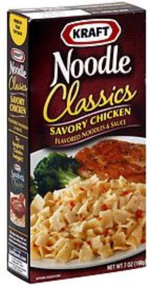 """We called it """"chicken stuff"""" at my house, but Kraft's Chicken Noodle Dinner was so good!"""
