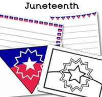 Juneteenth Printables Juneteenth Flags Juneteenth Page Borders