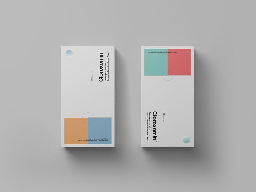 Download Pills Box Packaging Mockup On Behance In 2020 Pill Packaging Design Packaging Mockup Box Mockup