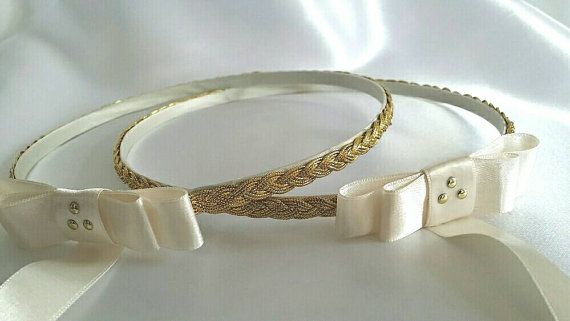 Greek Stefana + pillow. Handmade Wedding Crowns / Tiaras / Headbands and Cushion. STEPHANA #crowntiara