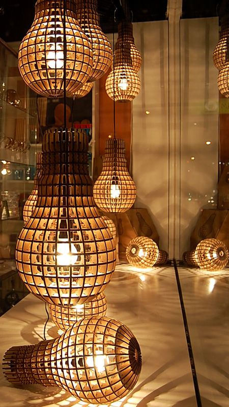 It S A Light Bulb A Giant Very Clever Wooden Lamp A Giant