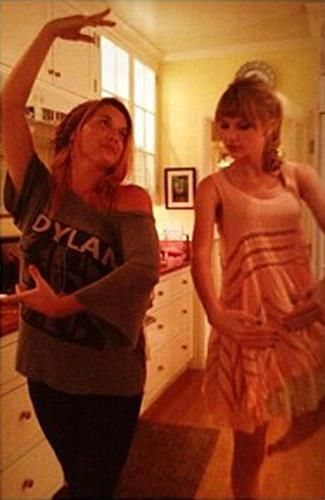 Taylor Swift dancing with Charity