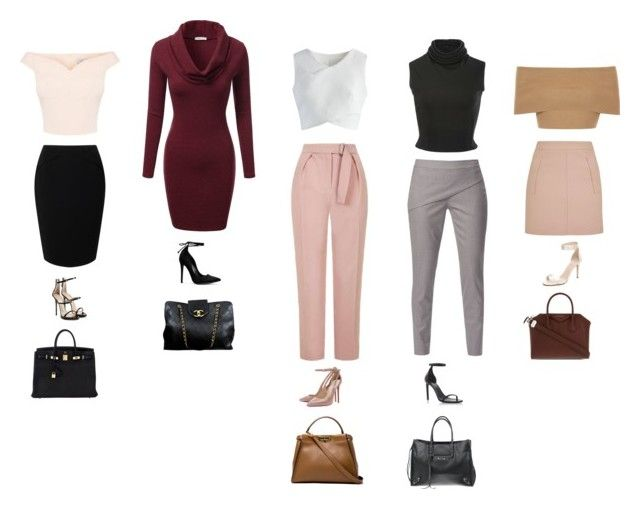 """""""Modern Work Look"""" by daniellesngn on Polyvore featuring J.TOMSON, Jacques Vert, Topshop, WtR, Brandon Maxwell, Chicwish, Blue Vanilla, Giuseppe Zanotti, Yves Saint Laurent and Kate Spade"""