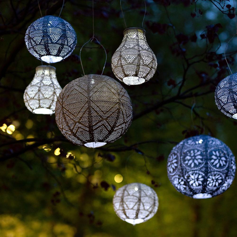 Floral Lace Solar Lantern In 2021 Solar Lanterns Hanging Solar Lights Outdoor Hanging Lanterns