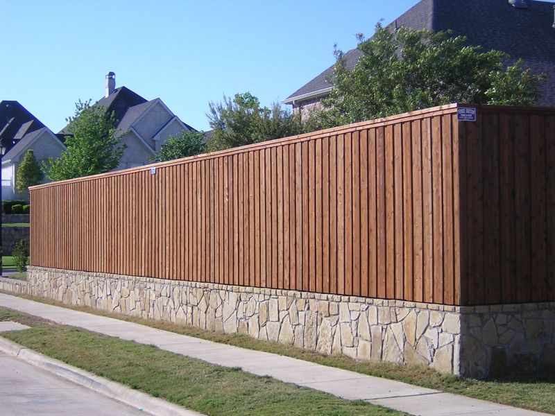 fences retaining walls wood fence fence design on stone wall id=46561