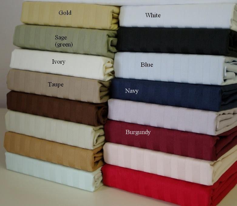 Twin XL Stripe 600 Thread count 100% Egyptian cotton Sheet sets $69.99 www.scotts-sales.com