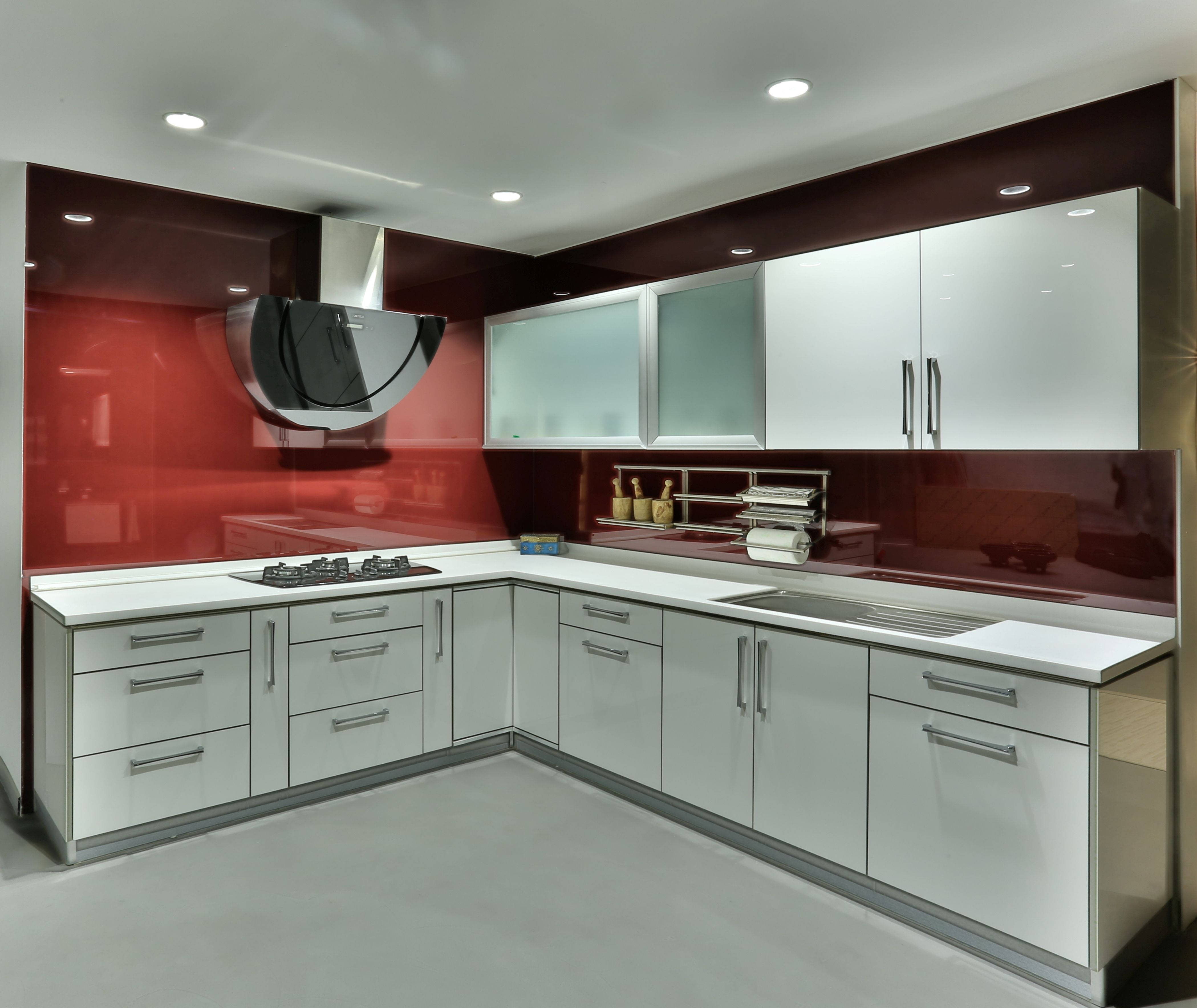 modular kitchen with hafele accessories and appliances | ideas for
