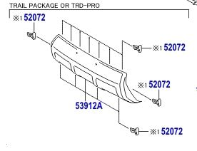 Front Valance Panel Trd Pro 4runner 2014 4runner Trd Trd Pro