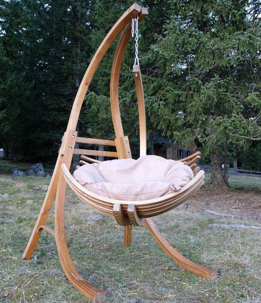 DESIGN Hängesesselgestell aus Holz Lärche komplett mit Hängesessel ...