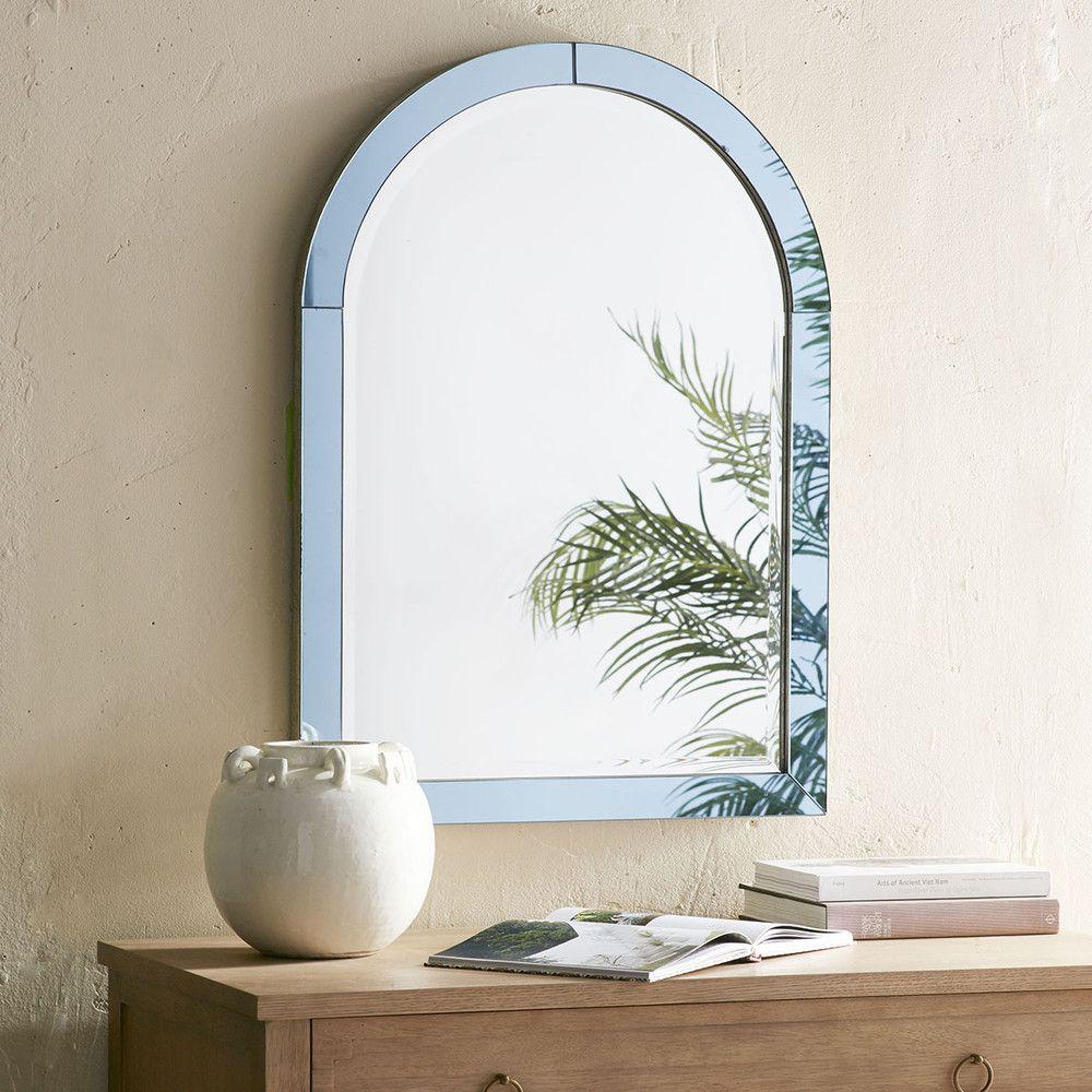 Blue Glass Arched Mirror | Arch mirror, Arch and Glass