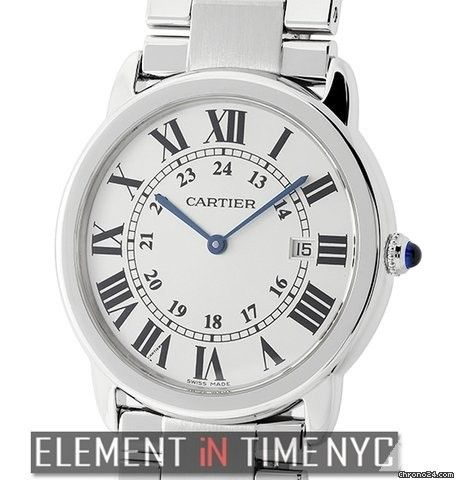 Cartier Ronde Solo Collection Large 36mm Stainless Steel Silver Dial Quartz Ref. W6701005 Price On Request