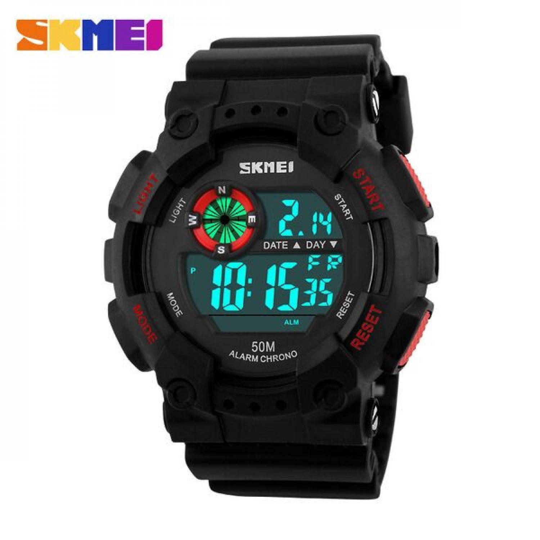 Jam Tangan Pria SKMEI Digital Military Sport Watch Original DG1101 Merah