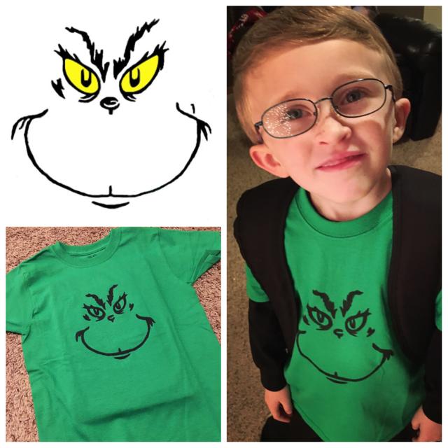 Grinch Shirt DIY!   Diy grinch shirt, Grinch shirts, Kids