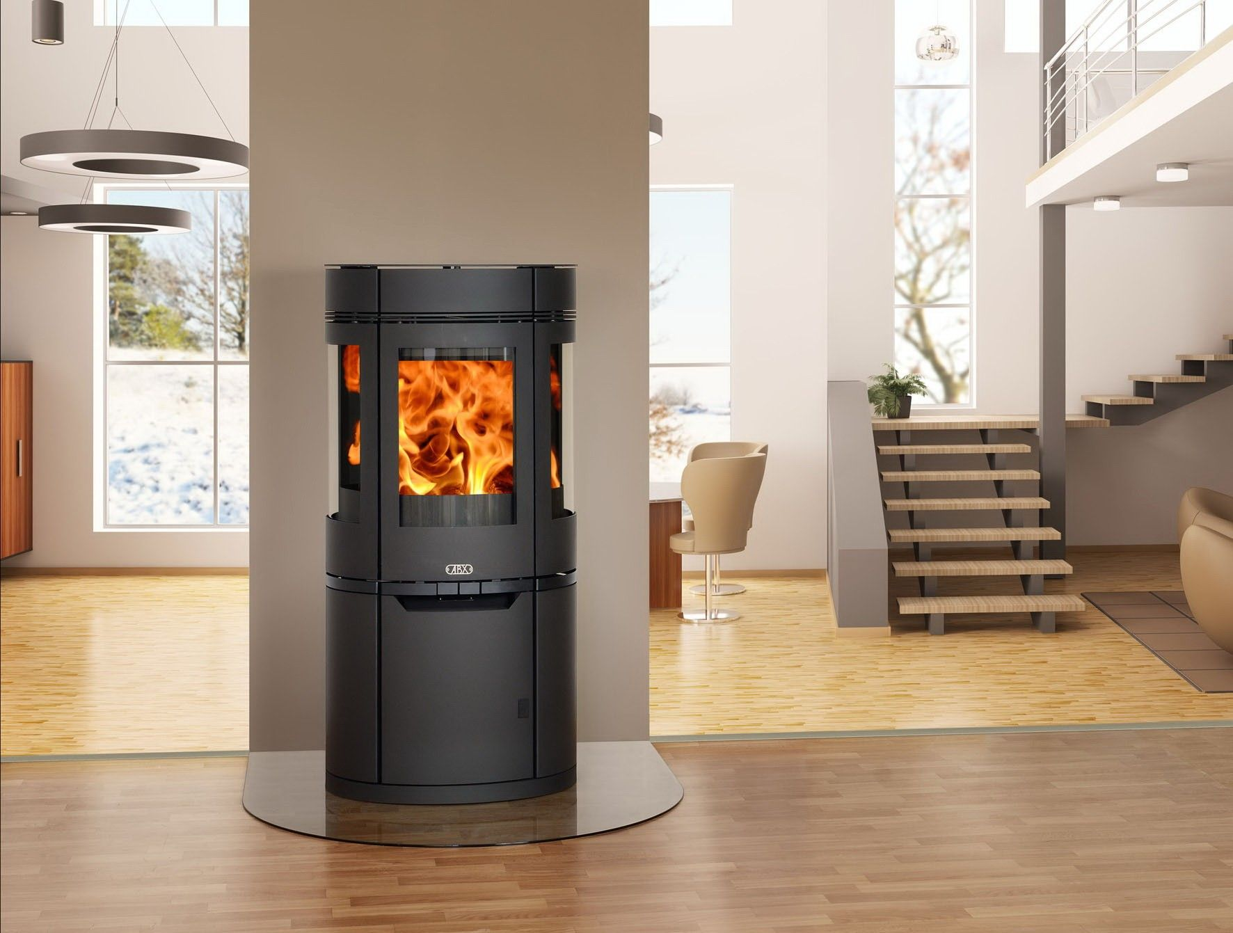 They Design Window Contemporary Wood Burning Stove Intended For Wood  Burning Stoves Heating Homes With Wood Burning Stoves