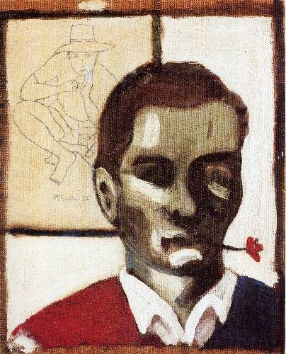 Pier Paolo Pasolini Self-portrait