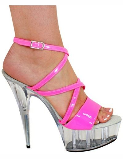 Gorgeous Pink Leather Patent Womens Sexy Heels