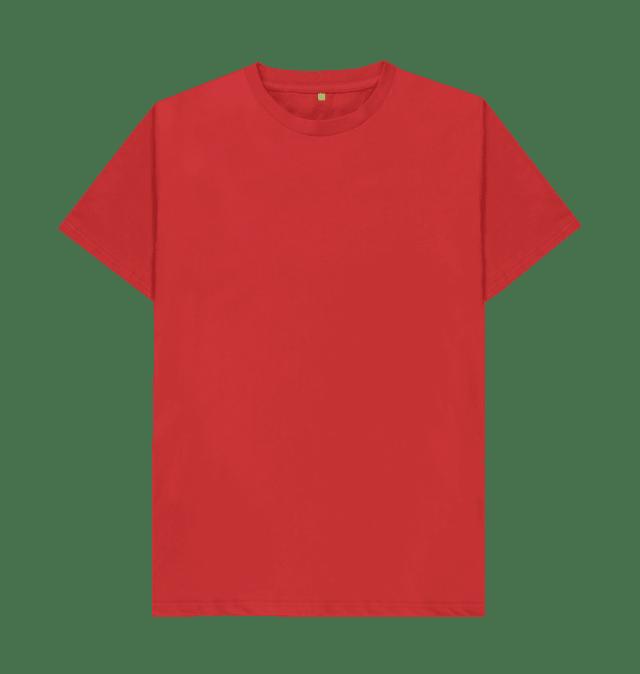 Red Plain Men S Organic Tee Organic Cotton T Shirts Shirts Plain Red T Shirt
