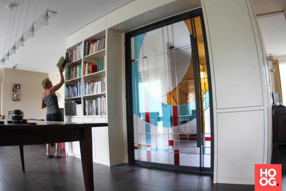 Glazen deur met opdruk   interieur ideeën   woonkamer   living room ...