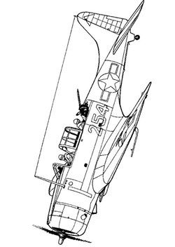46 coloring pages of WWII Aircrafts (With images) | Wwii ...