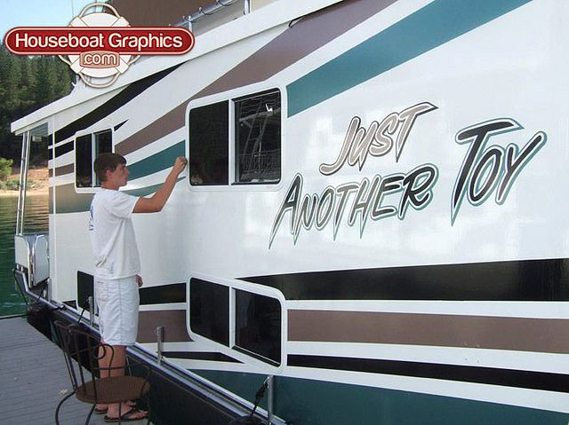 Homeawayfromhome Justanothertoy Check Out These Custom - Houseboats vinyl decals