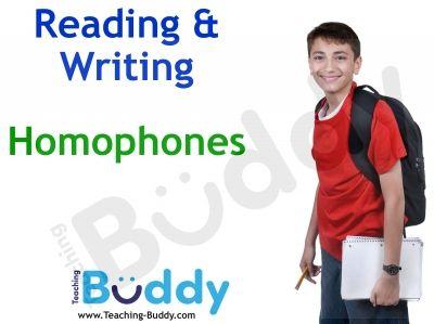 Homophones free teaching resource