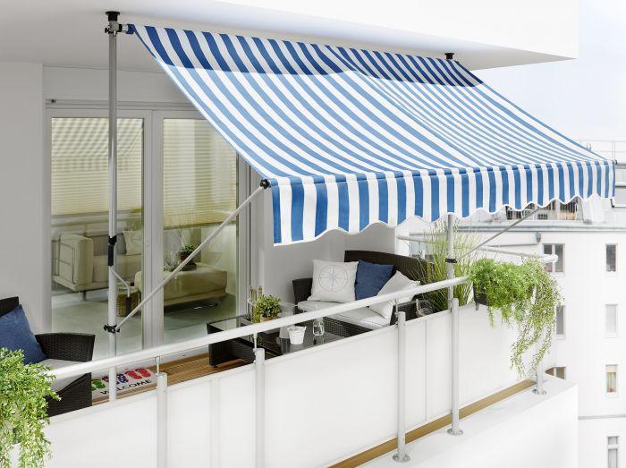 Parvekemarkiisi Sunfun Sinivalkoinen 2 5 X 1 3 M Bauhaus Fi In 2020 Outdoor Decor Home Home Decor