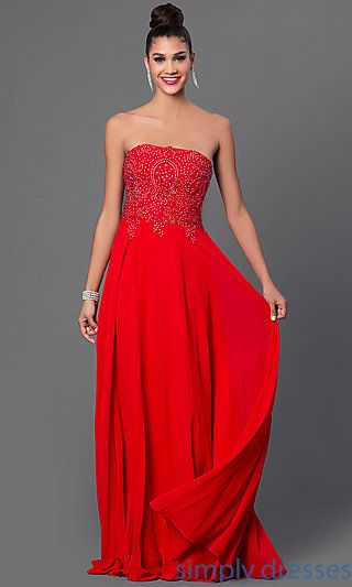 Corset Back Strapless Long Chiffon Gown Chiffon Gown Corset And Gowns