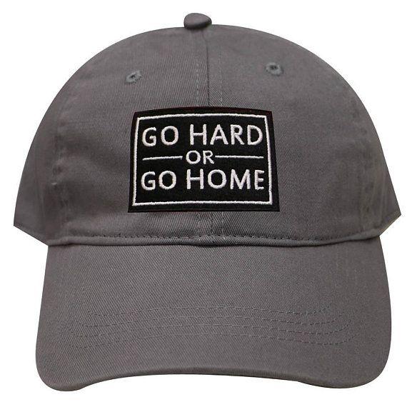 c3e6db95efb Capsule Design Go Hard or Go Home Gym Embroidered Baseball Cap Dark Gray